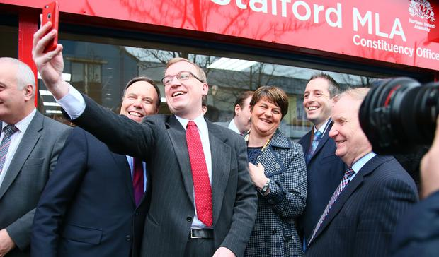 Arlene Foster pictured at the new DUP office in Sandy Row in Belfast Northern Ireland on 16th December 2016 ( Photo by Kevin Scott / Belfast Telegraph )
