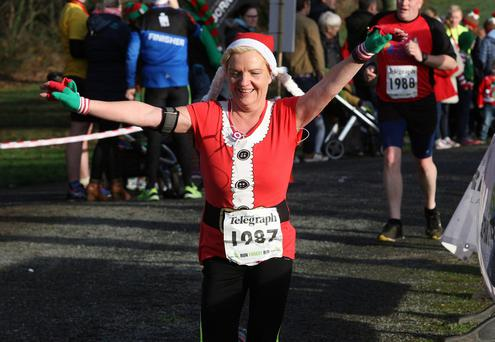 Saturday 17th December 2015 Belfast Telegraph Run Forest Run Series Kilbroney Forest Park, Rostrevor Diana Johnston Picture by Freddie Parkinson/Press Eye
