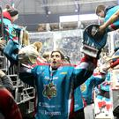 Press Eye - Belfast - Northern Ireland - 17th December 2016 - Photo by William Cherry Belfast Giants' Jackson Whistle after Saturdays Elite Hockey League game against the Nottingham Panthers at the SSE Arena, Belfast.