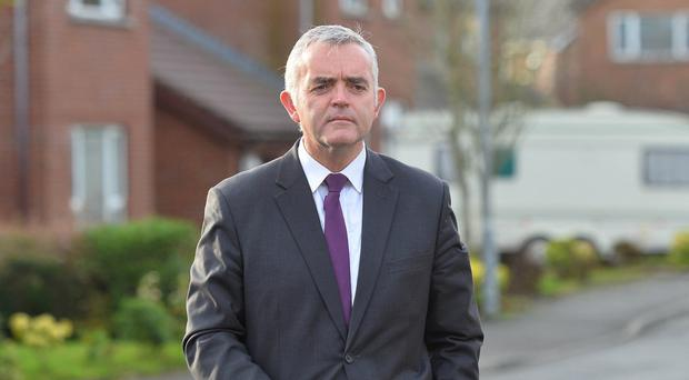 Jonathan Bell pictured today (Sunday) near his Bangor Home. The Strangford MLA has been suspended from the DUP for speaking to the press without permission. Pic Colm Lenaghan/Pacemaker