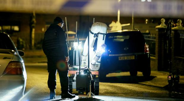 Police and ATO at the scene of a security alert in the Carrick Hill area of North Belfast where they dealt with a suspicious vehicle resulting in a number of homes being evacuated on 17th December 2016 ( Photo by Kevin Scott / Belfast Telegraph )