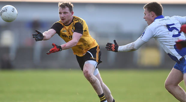 Different class: Ulster's Aiden Breen is pursued by Niall Daly