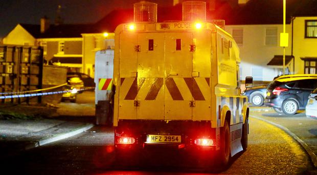 The scene of a paramilitary-style shooting in Aitnamona Crescent (Photo by Kevin Scott / Belfast Telegraph)