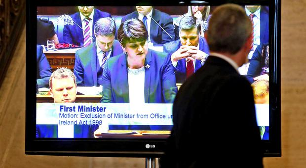 Row over the Renewable Heating Incentive (RHI) rumbles on as Arlene is quizzed at Stormont