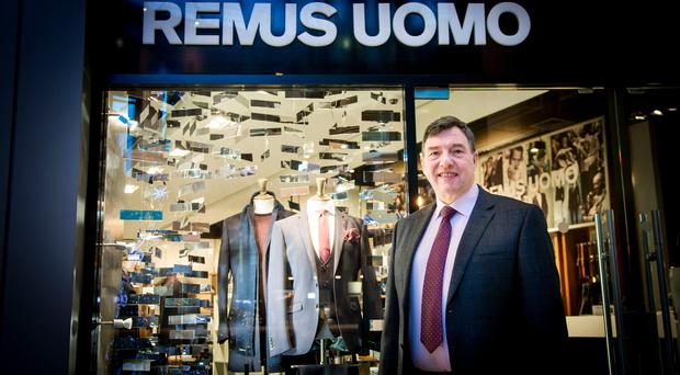 Donald Finlay in his Remus Uomo store in Belfast