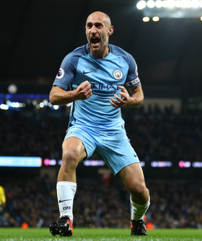 Title warning: Pablo Zabaleta believes Manchester City can take advantage if their rivals make mistakes in the league