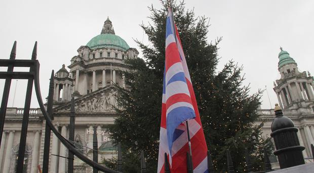 Loyalist flag protest at Belfast City Hall [File photo by Colm O'Reilly]