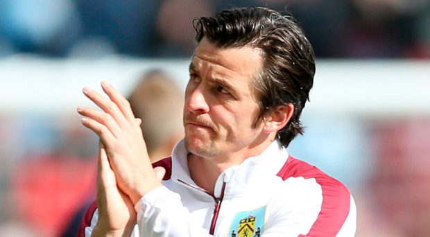 Familiar face: Joey Barton led Burnley to Championship joy. Photo: Tim Goode/PA