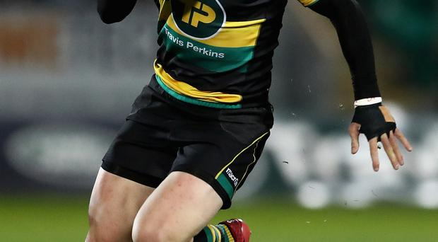 Hit: George North appeared to be unconscious after a collision