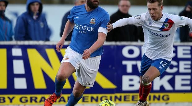 Moving on: Paddy McCourt has struggled to adjust to life with the Lurgan Blues and will weigh up his options