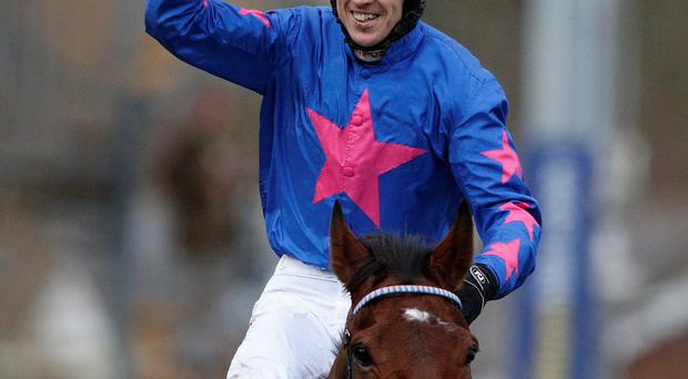 Winner alright: Paddy Brennan and Cue Card after last year's King George