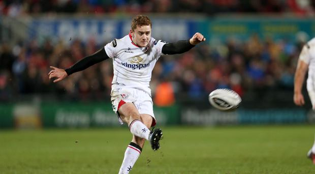 Paddy Jackson opens the score for Ulster against Connacht