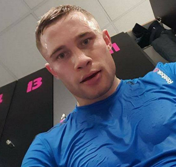 Carl Frampton in the gym