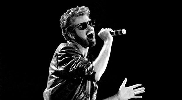 File photo dated 13/07/85 of George Michael of Wham performing at the Live Aid concert at Wembley Stadium in London, as the pop superstar has died peacefully at home, his publicist said. PA