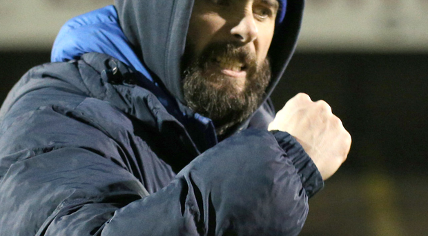 Late sting: Gary Hamilton is thrilled to see shades of the old Glenavon