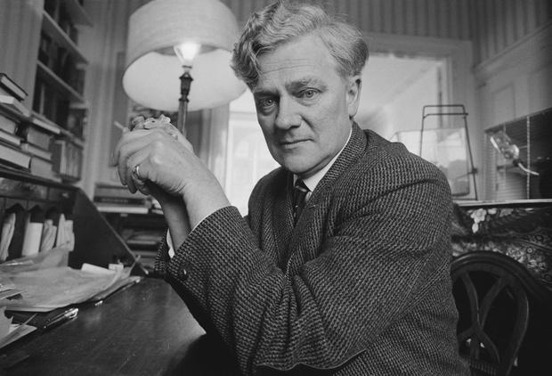 Watership Down Author Richard Adams Dies At 96. English novelist Richard Adams holding a pet mouse, 3rd March 1974. (Photo by Tom Smith/Daily Express/Hulton Archive/Getty Images)
