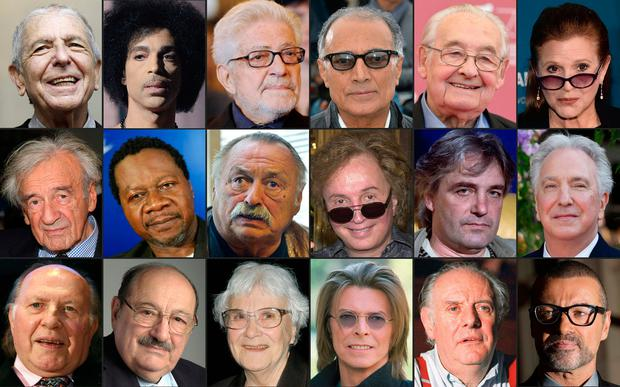 Public Figures Who Passed Away In  L To R Top To Bottom