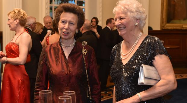 Princess Anne with Dame Mary Peters during a recent visit to Belfast