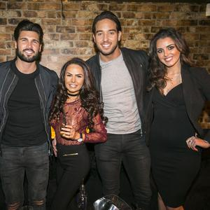 Party goers out at Box Nightclub meet Towie lads, James Lock & Dan Edgar for Craic's 90 Christmas Special. Tuesday 27 December 2016. Picture by Liam McBurney/RAZORPIX