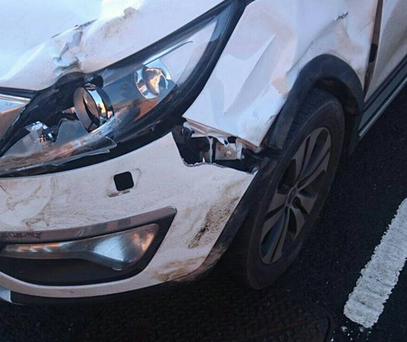 No-one was injured in the crash involving a stag in Northern Ireland