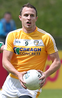 Real boost: Michael McCann has not ruled out a return to Antrim action. Photo: Declan Roughan/PressEye