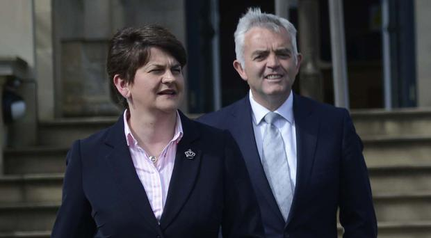 Arlene Foster and Jonathan Bell led DETI at different periods