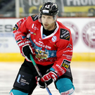 Possession: Belfast Giants player/coach Derrick Walser on the move. Photo: William Cherry/PressEye