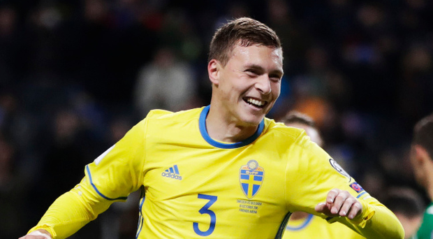 Wanted man: Victor Lindelof has been heavily linked with amove to Manchester United but could now remain at Benfica. Photo: Nils Petter Nilsson/Getty Images