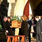 The funeral of Davy Smyth was held at All Saints Church in Ballymena, Co Antrim, on Thursday December 29, at 10am. Picture By: Arthur Allison/Pacemaker Press