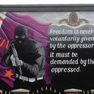 The Good Friday Agreement ended the decades-long Troubles conflict in Northern Ireland and was written on the basis of the ECHR being part of Northern Irish law. Above: A loyalist paramilitary mural in Belfast