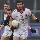 Tough job: The experienced Karl McKaigue could be handed the difficult role of curbing the superb Diarmuid Connolly when Slaughtneil meet St Vincent's. Photo: Matt Mackey/Press Eye