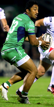 Connacht's Bundee Aki. Photo: James Crombie/INPHO