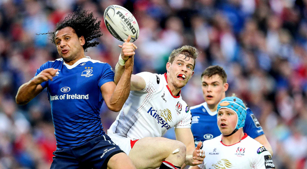 Ready to return: Andrew Trimble appears to have recovered from a foot injury and should feature against Leinster at the RDS. Photo: Billy Stickland/INPH0