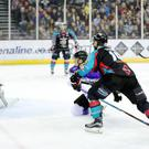 Press Eye - Belfast - Northern Ireland - 30th December 2016 - Photo by William Cherry Belfast Giants' Colin Shields celebrates scoring against Braehead Clan during Friday nights Elite Ice Hockey League game at the SSE Arena, Belfast.