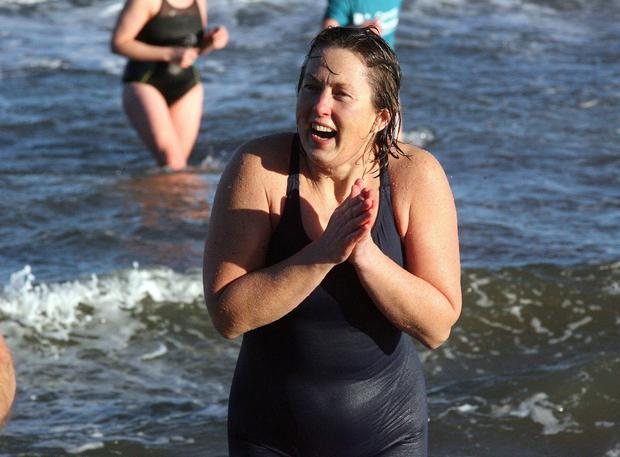 Tracy Ormaher from Newtownards at Crawfordsburn Beach. Picture by Freddie Parkinson/Press Eye