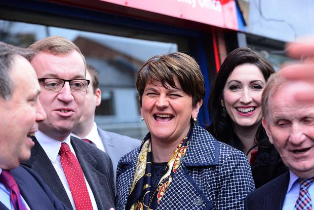 First minister Arlene Foster pictured today at the opening of Christopher Stalford South Belfast Constituency Office on Sandy Row in Belfast.