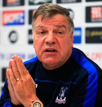 Rallying call: Sam Allardyce wants to see some confidence in his team