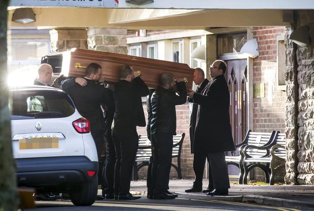 Joanne Bowman, who was also known as Joanne Kirk, was found dead at a house in west Belfast on Boxing Day, her funeral took place on Tuesday January 3 at Roslawn crematorium ( Photo by Kevin Scott / Belfast Telegraph )