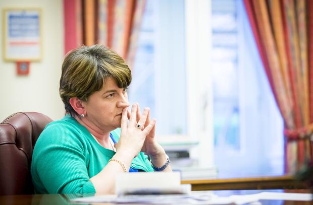 First Minister Arlene Foster speaks to Belfast Telegraph in relation to the RHI Scheme at Stormont Castle on the 3rd January 2017 ( Photo by Kevin Scott / Belfast Telegraph )