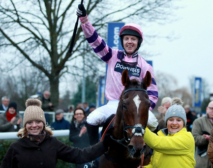 Winner alright: Noel Fehily should win on Charmix at Hereford today