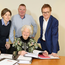 Study group: Belfast Telegraph Sports Awards judges, from left, Angela Platt, of the NI Sports Forum, Group Sports Editor Jim Gracey, Sport NI's Shaun Ogle and Dame Mary Peters (seated)
