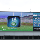 Controversy: the scoreboard at the Christy Ring Cup Final Replay in Croke Park