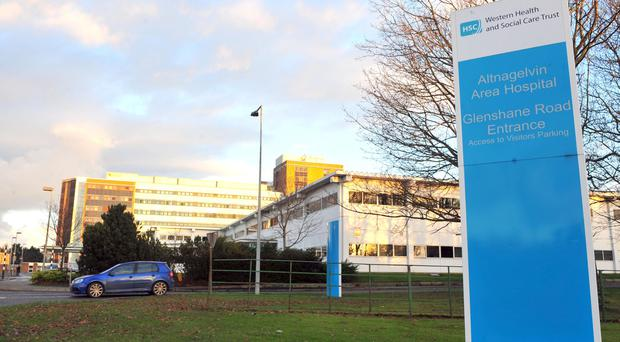 Members of staff at Altnagelvin Area Hospital's emergency department were at