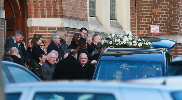 The funeral of solicitor Gerry Daly takes place at St Gerard's church, Antrim Road, Belfast. ( Photo by Kevin Scott / Belfast Telegraph )
