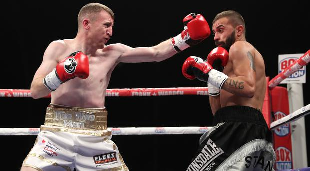 Winner: Paddy Barnes on the attack on professional debut