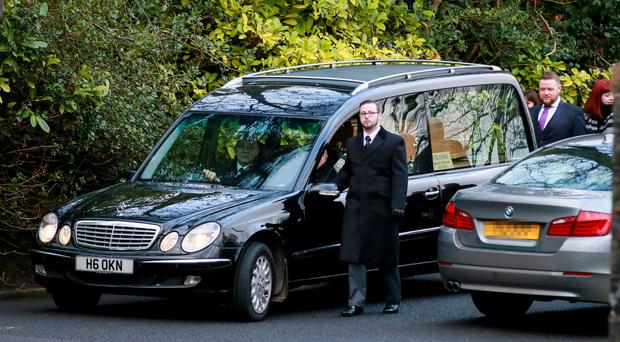 The funeral of solicitor Gerry Daly takes place at St Gerard's Church, Antrim Road, yesterday