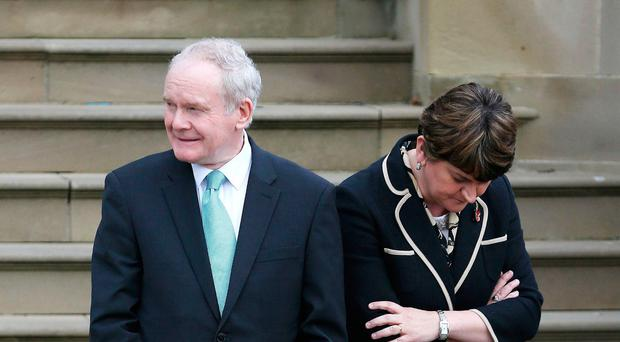 Martin McGuinness and Arlene Foster