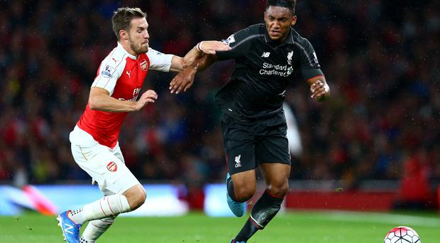 Long road: Joe Gomez (right) is back after 15 months out