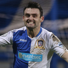Treble: Eoin Bradley hit three on his second Coleraine debut