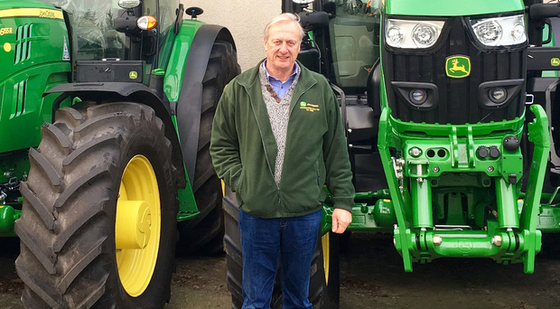 Robbie Hewitt with some of the tractors